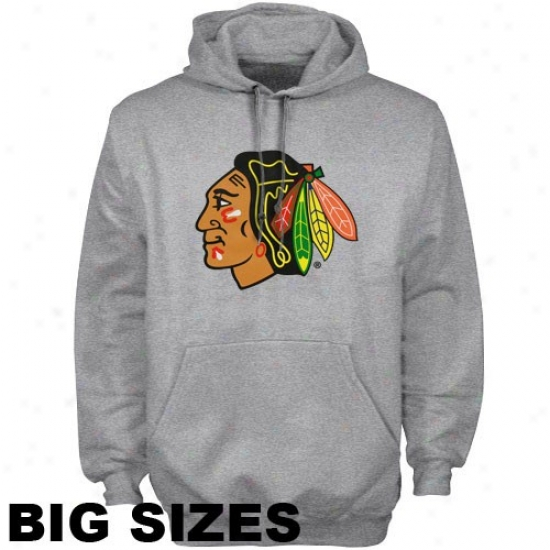 Black Hawks Stuff: Majestic Black Hawks Ash Logo Big Sizes Hoody Sweatshirt