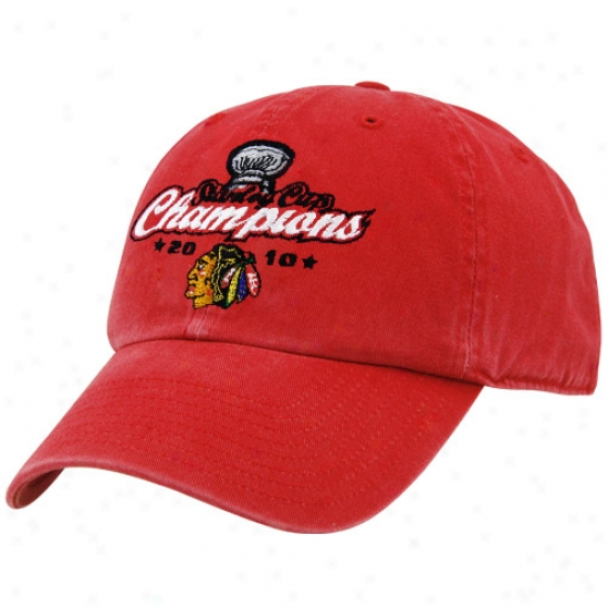 Blackhawks Array: New Era Blackhawks Red 2019 Nhl Stanley Cup Champions Adjustable Slouch Hat