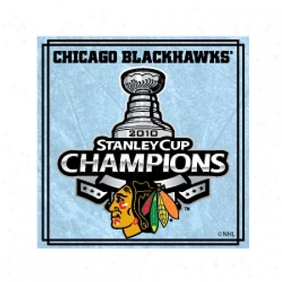 Blackhawks Hat : Blackhawks 2010 Nhl Stanley Cup Champions Square Photoart Collectible Pin