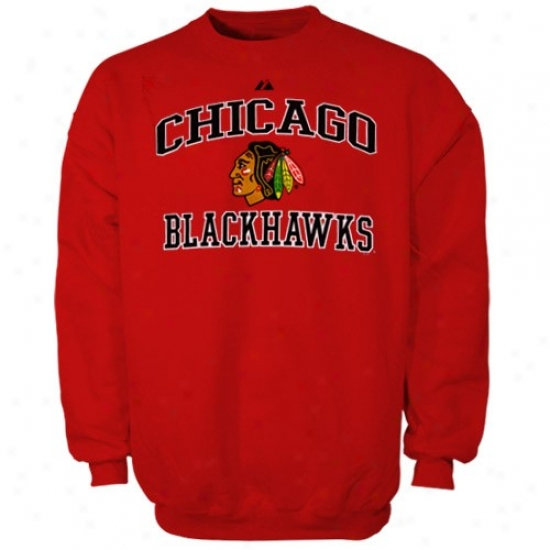 Blackhawks Hoody : Majestic Blackhawks Team Logo Hoody