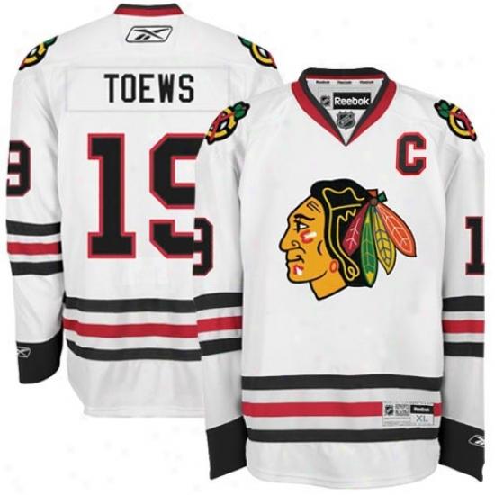 Blackhawks Jersey : Reebok Blackhawks #19 Jonathan Toews White Premier Hockey Jersey