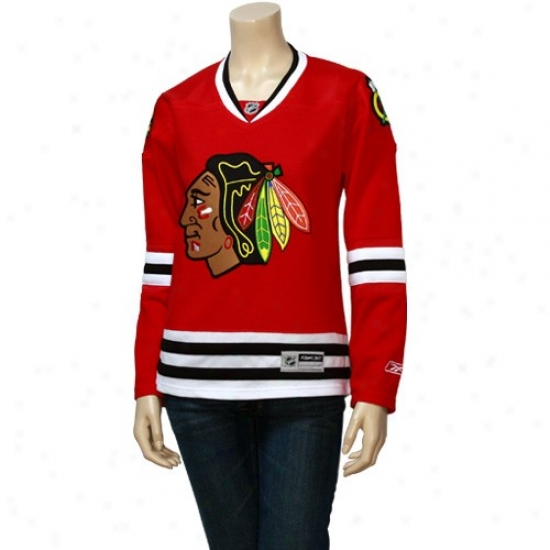 Blackhawks Jerseys : Reebok Blackhawks Ladies Red Edge Replica Hockey Jerseys