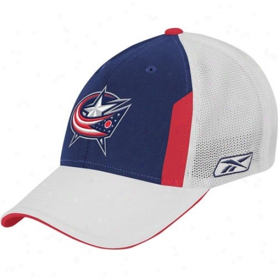 Blue Jackets Cover : Reebok Blue Jackets Navy Blue 2008 Nhl Draft Day Flex Fit Cap