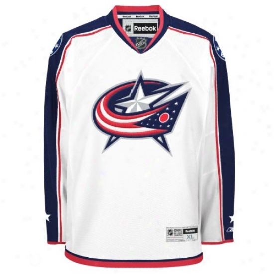 Blue Jackets Jersey : Reebok Blue Jackets White Premier Hockey Jersey