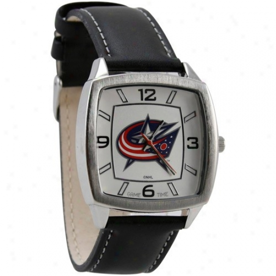 Blue Jackets Watches : Blue Jackets Retro Watches W/ Leather Band