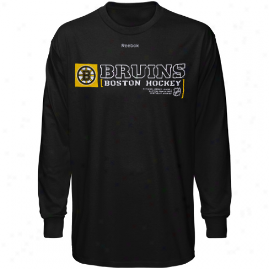 Boston Bruin Dress: eRebok Boston Bruin Black Call Sign Long Sleeve T-shirt