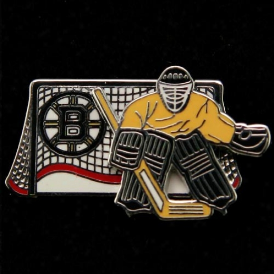 Boston Bruin Gear: Boston Bruin Moving Goalie Pin
