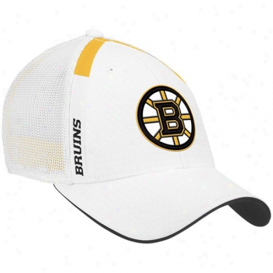 Boston Bruin Hat : Reebok Boston Bruin Happy  Nhl Draft Day Flex Fiit Hat