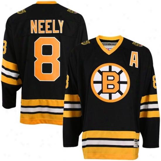 Boston Bruin Jersey : Reebok Boston Bruin #8 Cam Neely Black Heroes Of Hockey Jersey