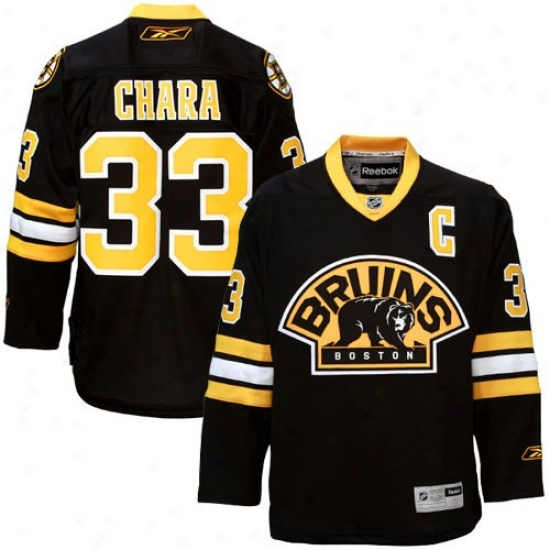 Boston Bruin Jerseys : Reebok Boston Bruin #33 Zdeno Chara Black Premier Hockey Jdrseys
