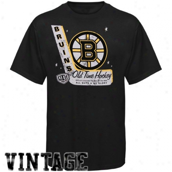 Boston Bruin Shirts : Old Allotted period Hockey Boston Bruin Dark Lumber Vintage Shirts