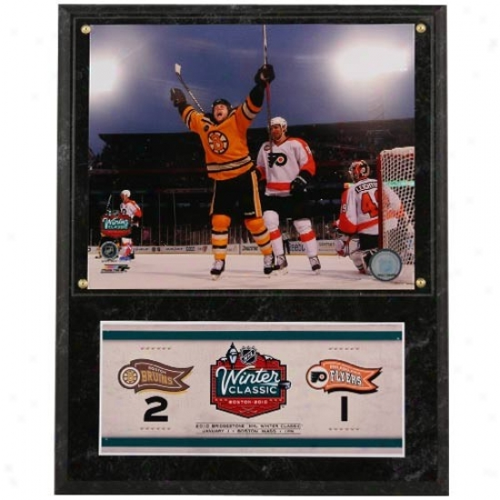 Boston Bruins 2010 Winter Classic Photo Plaque