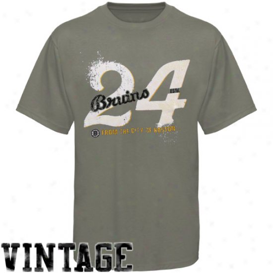 Boston Bruins Clothes: Old Period Hockey Boston Bruins Gray Bench Premium T-shirt