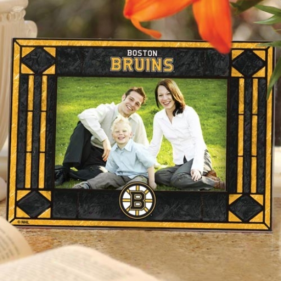 Boston Bruins Art-glass Horizontal Picture Frame