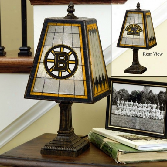Boston Bruins Art-glass Tabel Lamp