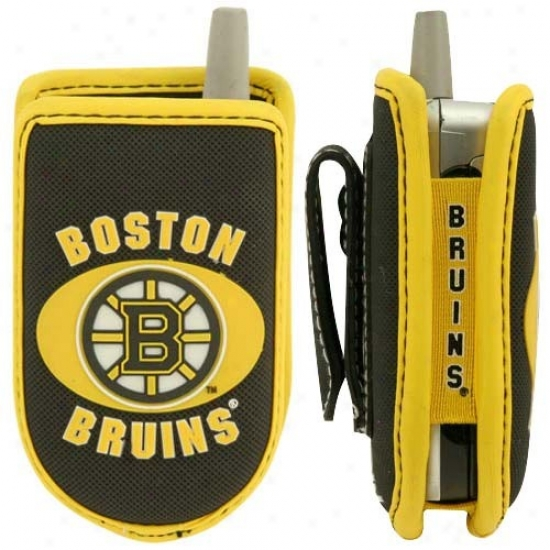 Boston Bruins Black Game Wear Hockey Pukc Cell Phone Cass