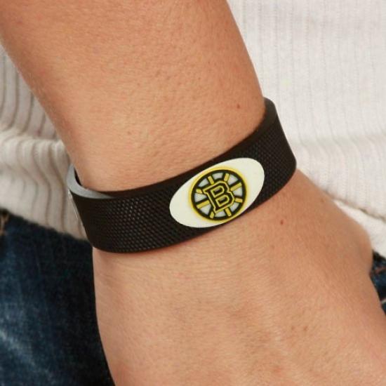 Boston Bruins Black Hockey Bracelet