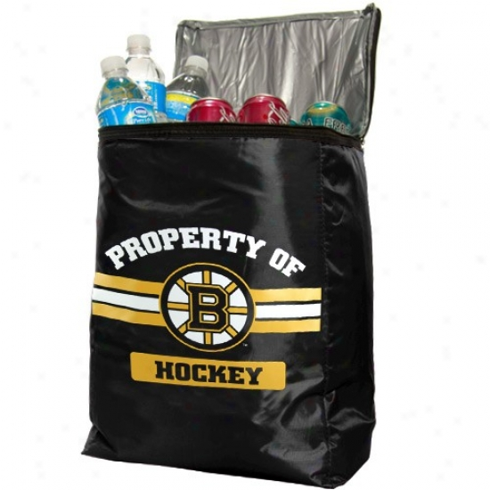 Boston Bruins Black Insulated Cooler Backpack