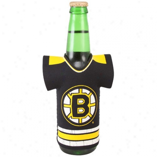 Boston Bruins Black Jerdey Bottle Coolie