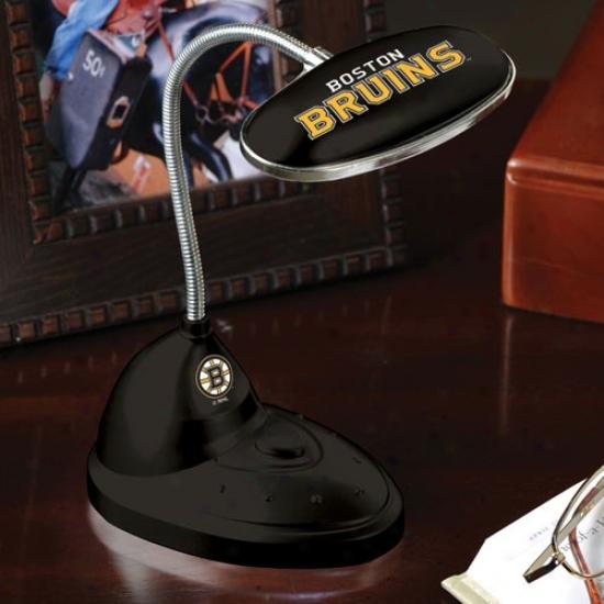 Boston Bruins Black Led Desk Lam