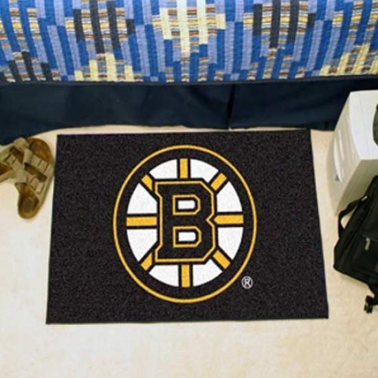 Boston Bruins Black Logo Starter Mat