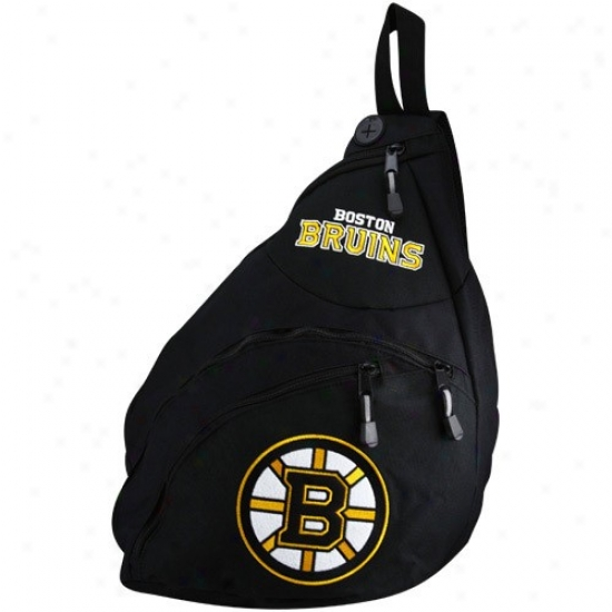 Boston Bruins Black Slingshot Backpack