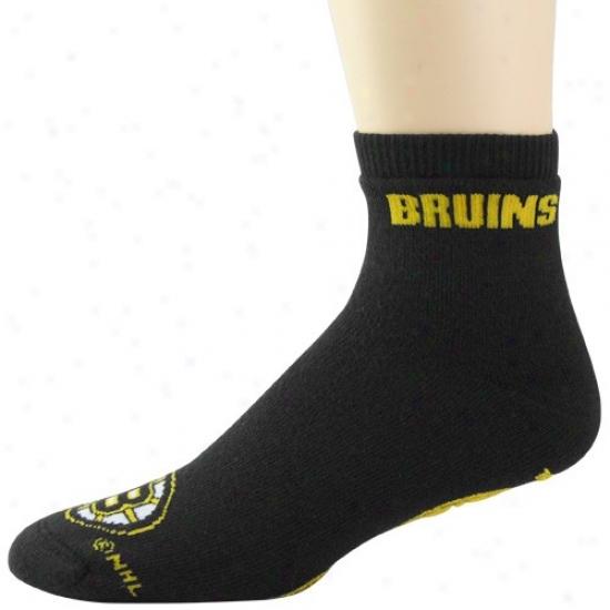 Boston Bruins Black Slipper Socks