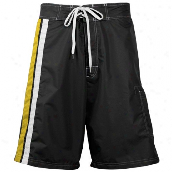 Boston Bruins Black Team Logo Board Shorts