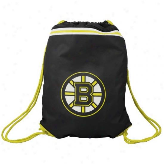 Boston Bruins Murky Team Logo Drawstring Back0ack