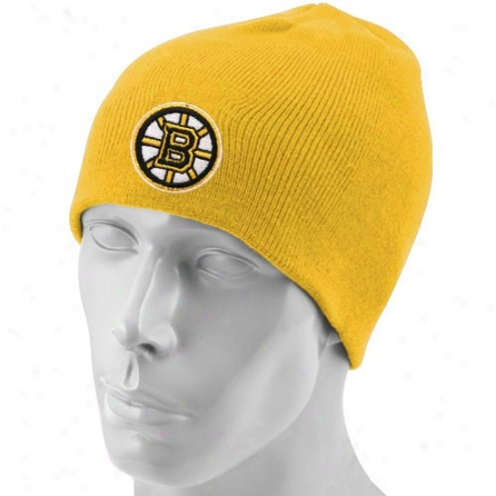Boston Bruins Caps : Reebok Boston Bruins Gold Scully Knit Beanie