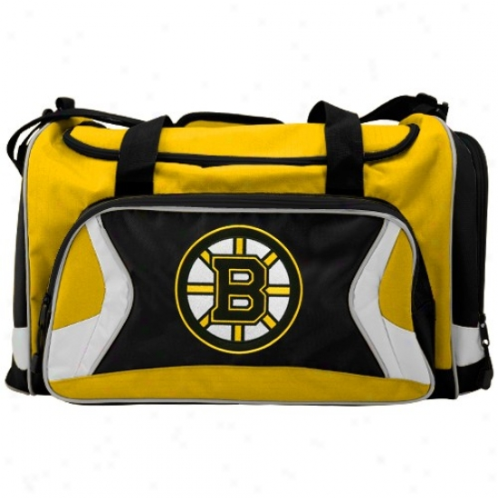 Boston Bruins Gold Team Logo Dufle Bag