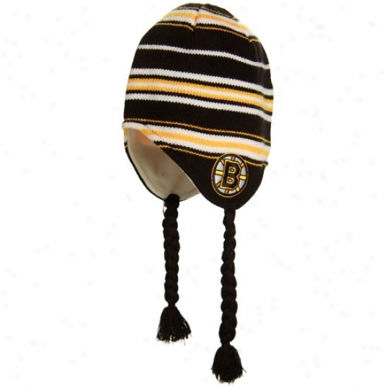Boston Bruins Hats : Reebok Boston Bruins Black Tassle Knit Hats