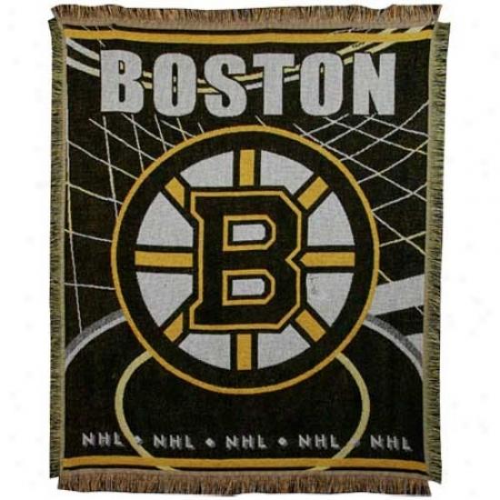 Boston Bruins Jacquard Wovn Blanket Wind