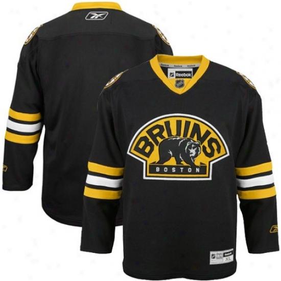 Boston Bruins Jersey : Reebok Boston Bruins Black Premier Hockey Jersey