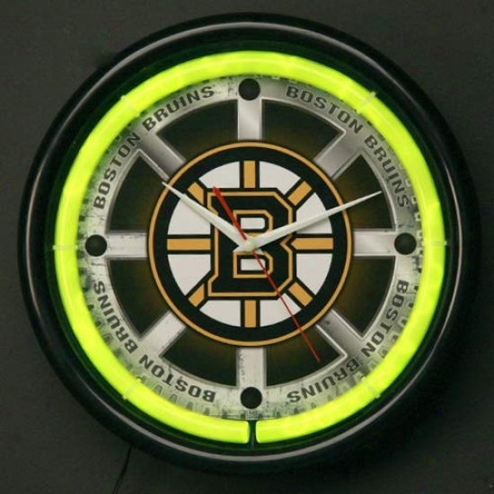 Boston Bruins Plasma Wall Clock