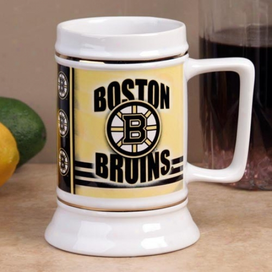 Boston Bruins Slapshot 28oz. Ceramic Stein