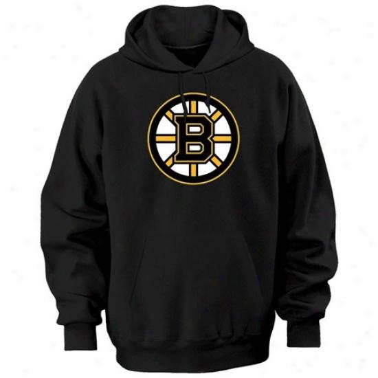 Boston Bruins Sweat Shirt : Majestic Boston Bruins Black Felt Tek Patch Sweat Shirt