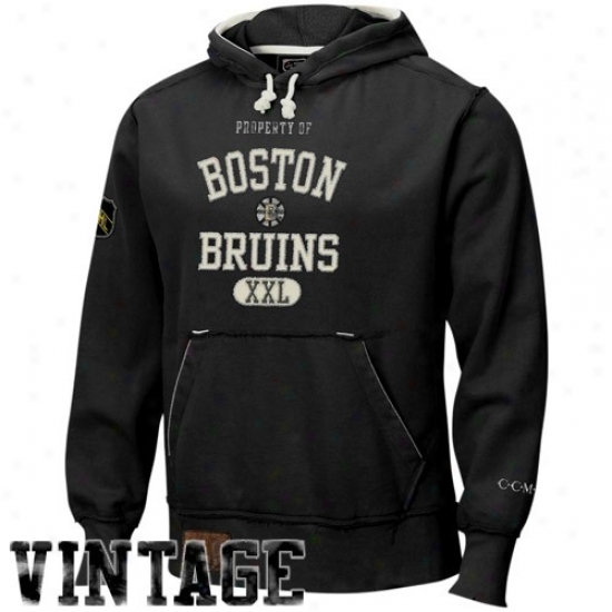 Bodton Bruins Ooze Shirt : Reebok Boston Bruins Black Classic Vintage Sweat Shirt