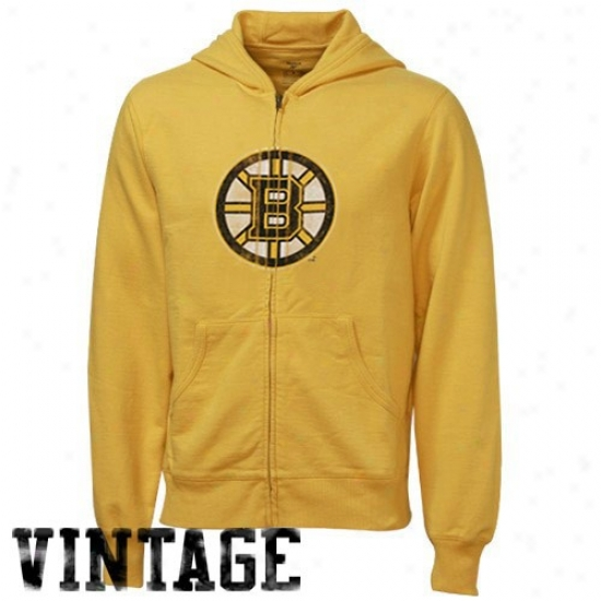 Boston Bruins Sweat Shirt : Reebok Boston Bruins Gold Better Logo Terry Sweat Shirt