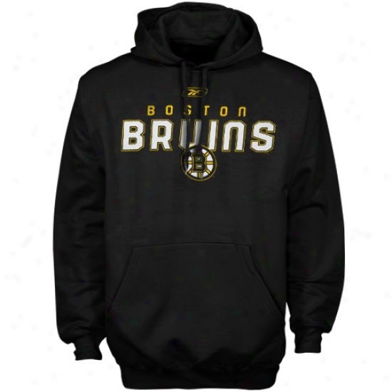 Boston Bruins Sweatshirt : Reebok Boston Bruins Black Sharp Sweatshirt