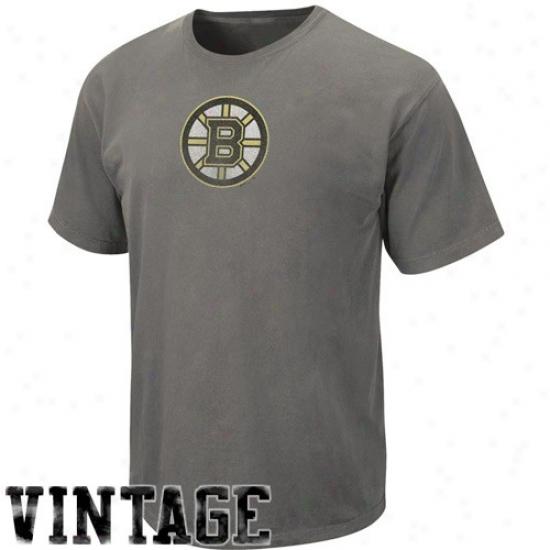 Boston Bruins T Shirt : Majestic Boston Bruins Black Big Time Play Vintage T Shirt