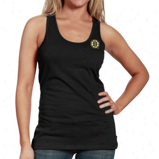 Boston Bruins Tshirt : Antigua Boston Bruins Ladies BlackS plendid Premium Tank Top