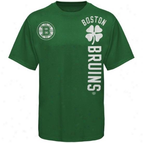 Boston Bruins Tshirt : Old Time Hockey Boston Bruins Kelly Green Camlin Tshirt