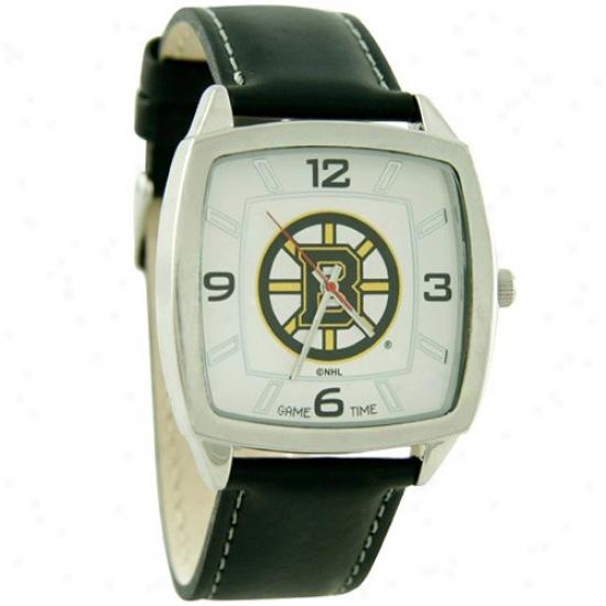 Boston Bruins Watch : Boston Bruins Retro Watch W/ Leather Band