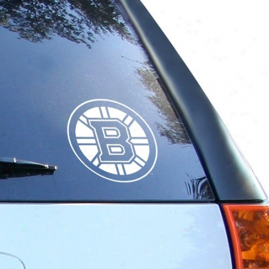 Boston Bruins Whitte 8'' X 8'' Logo Decal
