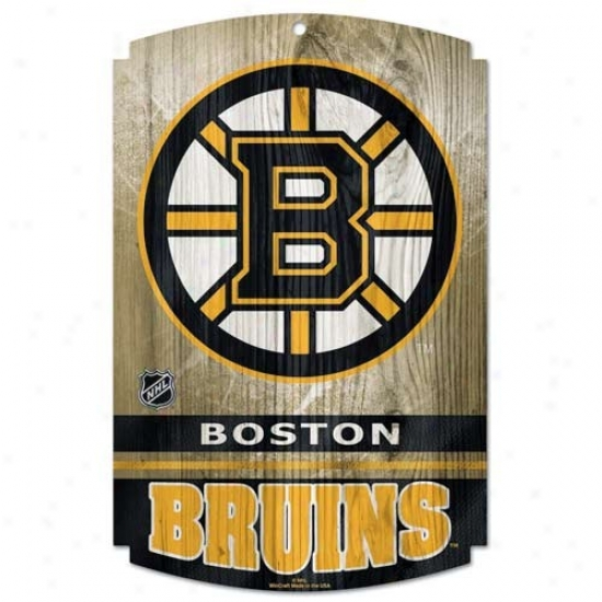 Boston Bruins Forest Sign