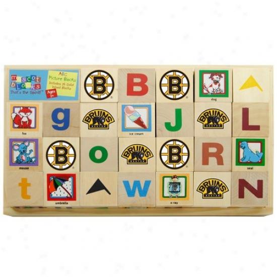 Boston Bruins Wooden Mascot Elements Blocks
