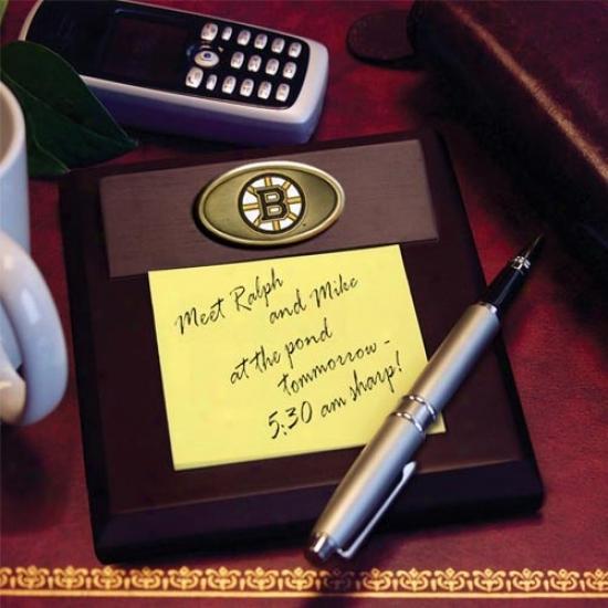 Boston Bruins Wooden Memo Pwd Holder