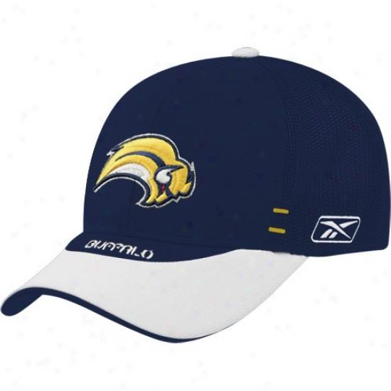 Buffalo Sabre Hats : Reebok Buffalo Sabre NavyB lue Youth Nhl Draft Day 1f-it Flex Fit Hats