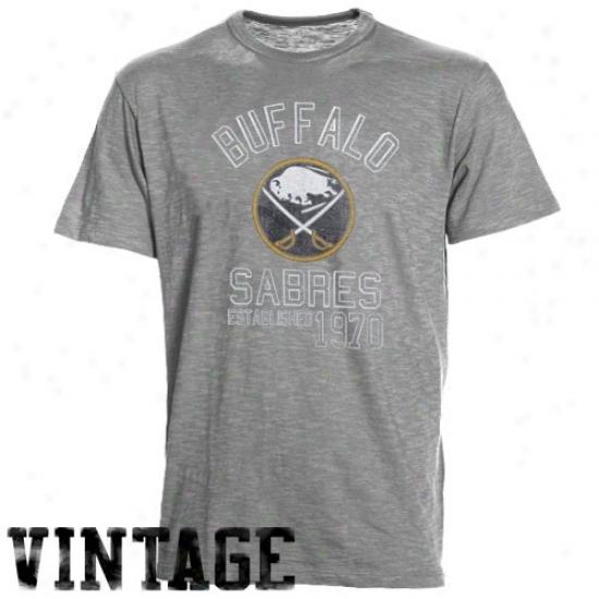 Buffalo Sabre Shirt : Banner '47 Buffalo Sabre Ash Baseline Vintage Shirt